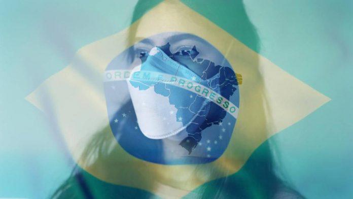 brasil e máscara para coronavírus
